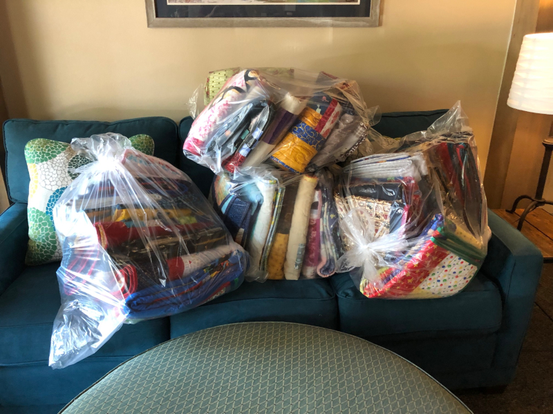 MBQG Community Quilts Distribution- RM House